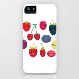 Kawaii Cherry Strawberry Raspberry Blackberry Blueberry Cranberry Cowberry Goji Grape iPhone Case