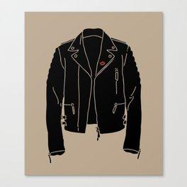 Leather Jacket - HANDSOME DEVIL'S CLUB (3/3) Canvas Print