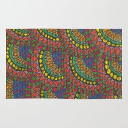 Colorful Scales Rug