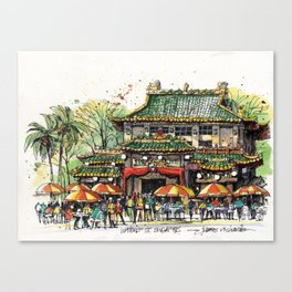Chinese Temple on Waterloo Street, Singapore Canvas Print