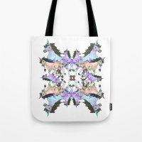 unicorns Tote Bags featuring Unicorns by abbykaye