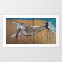 a whale called ollie Art Print