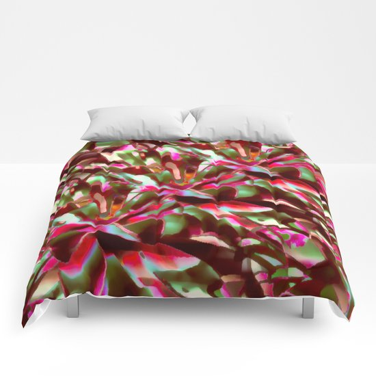 Bright And Cheerful Floral Garden Abstract Comforters