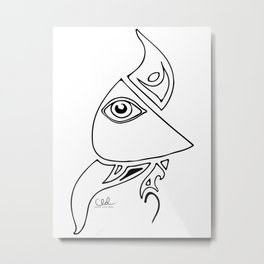 Watching Eye Metal Print