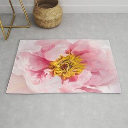 Pink Peony | Flower Photography |  Pink Floral | Botanical | Flowers | Nature Rug