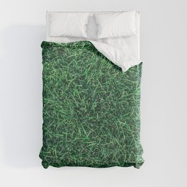 Green Grassy Texture // Real Grass Turf Textured Accent Photograph for Natural Earth Vibe Duvet Cover