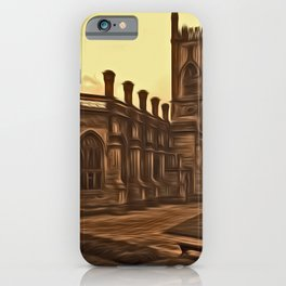 WW2 Bombed out Church Liverpool (Digital Art) iPhone Case