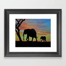 Elefants Framed Art Print