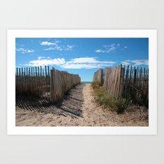 Way to the beach 2169 Art Print