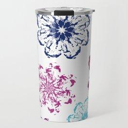 Batik Flowers Travel Mug