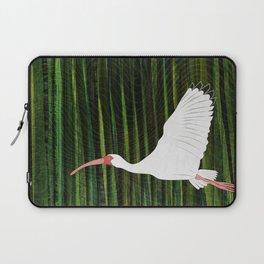 American White Ibis In Flight Laptop Sleeve