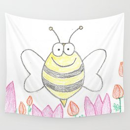 Bee happy Wall Tapestry