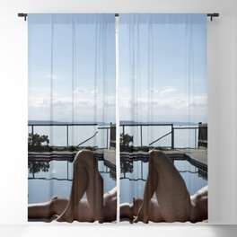 Male Poolside  Blackout Curtain