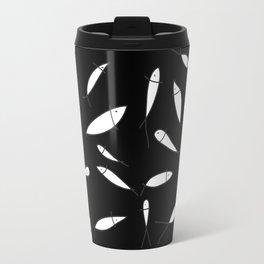 Fish pattern black Travel Mug