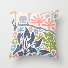 SNAKE IN THE GRASS-2 Throw Pillow