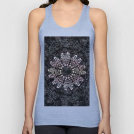 Floral ornament with strawberries silhouettes Unisex Tank Top