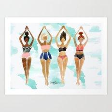 Beach Babe Bikinis Art Print