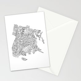 Bronx - Hand Lettered Map Stationery Cards