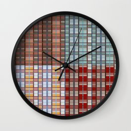 Square plaid pattern in classic style Wall Clock