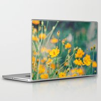 aperture Laptop & iPad Skins featuring Orange Cosmos by Laura Ruth