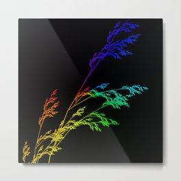 Nature,Minimal,rainbow Metal Print