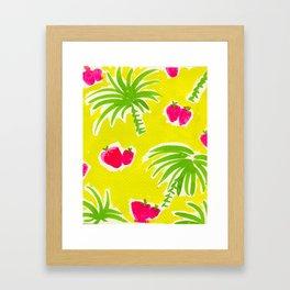 Strawberries & Palms Framed Art Print