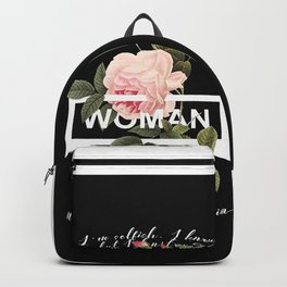 Harry Styles Woman graphic artwork Backpack