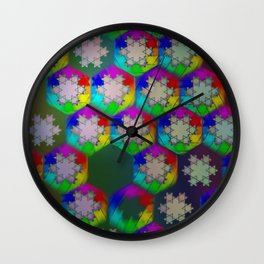 Koch Snowstorm Wall Clock