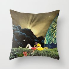 Postcard from New Iceland Throw Pillow