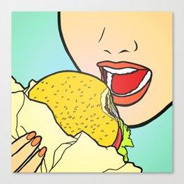 Burger Girl Canvas Print
