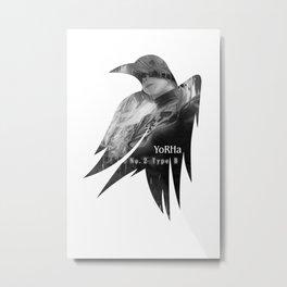 Raven's cloak Yorha 2B Metal Print