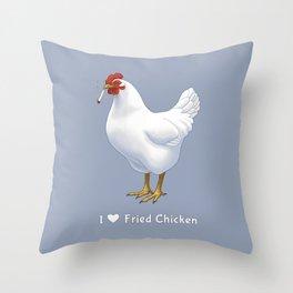 Funny Fried Chicken Pot Smoking White Hen Throw Pillow