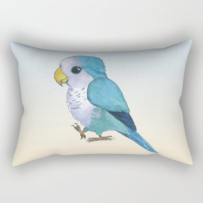 Very cute blue parrot Rectangular Pillow