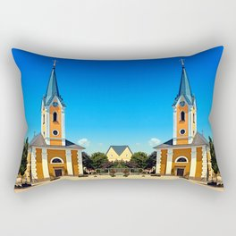The village church of Alberndorf in der Riedmark Rectangular Pillow