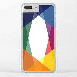 Rainbow geometry Clear iPhone Case
