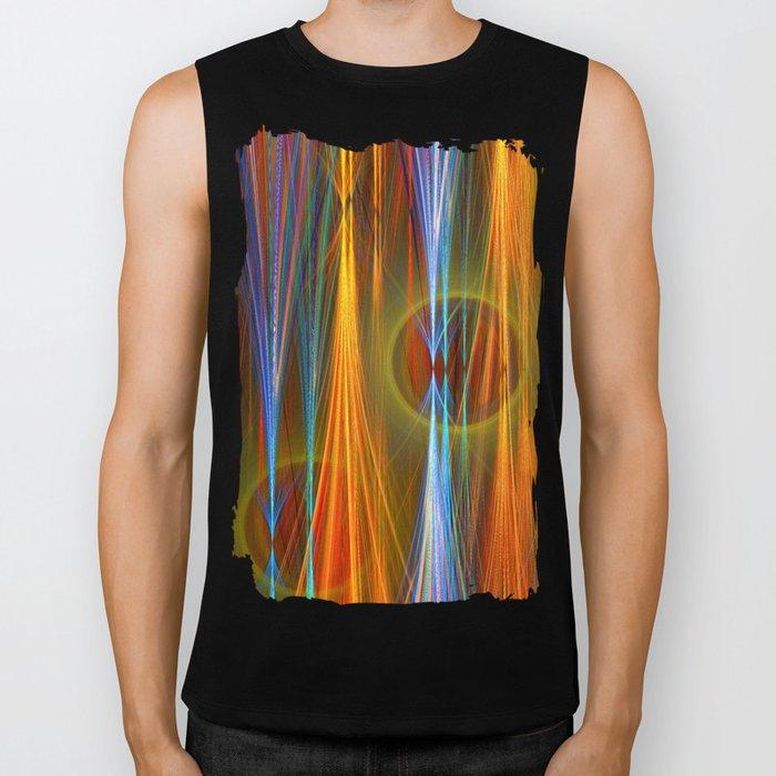Mirthful, colourful abstract Biker Tank