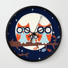Night Owls Wall Clock