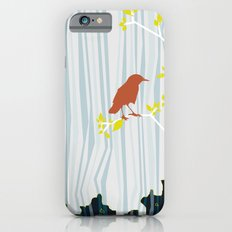 bird in birch iPhone 6s Slim Case