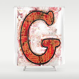 "Proud to be ""G"" Shower Curtain"