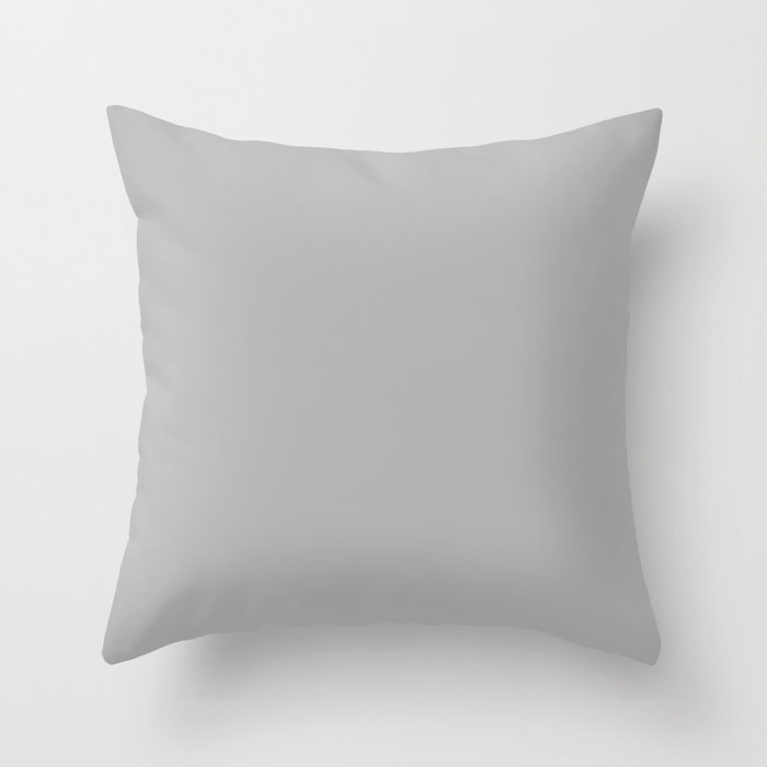 Simple Gray / Grey Luxe Solid Color Throw Pillow