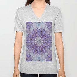 light winter mandala pattern Unisex V-Neck