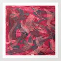 Impetuous, Abstract Art Painting Red Copper Gray by itaya