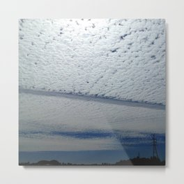 Salmon Clouds Metal Print