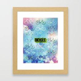 Bicycle Race Framed Art Print