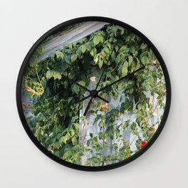 Honeysuckle Vines on Barn Wall Clock