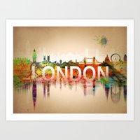london Art Prints featuring London  by mark ashkenazi