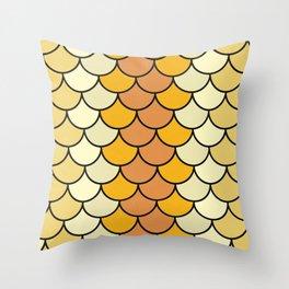 Yellow Bloom Throw Pillow