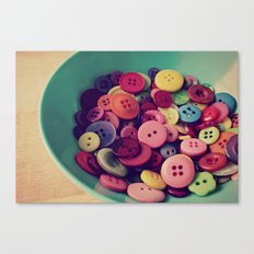 bowl of buttons Canvas Print
