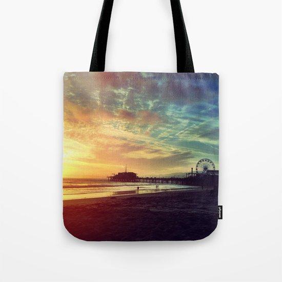 Photography + Color - Santa Monica Sunset Tote Bag