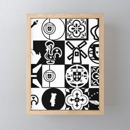 Portuguese Cultural Icons Framed Mini Art Print